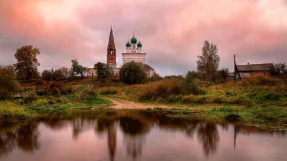 Kazan church, Osenevo wallpaper