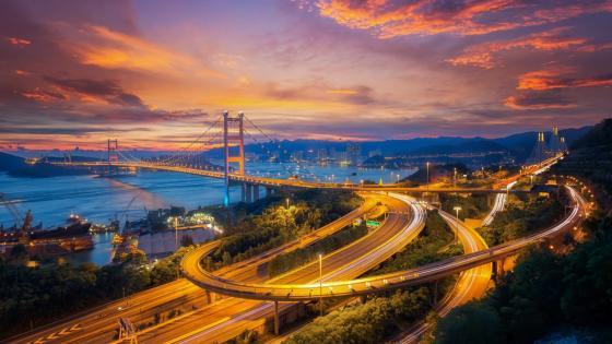 Tsing Ma Bridge wallpaper