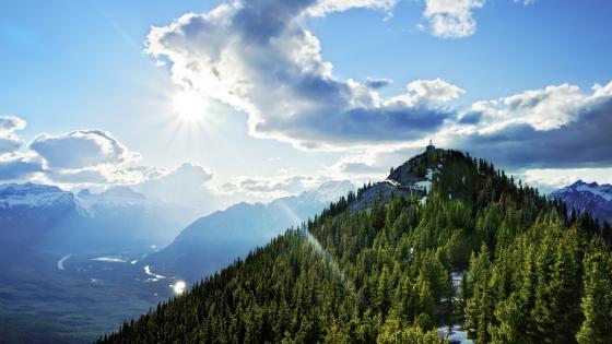 Sulphur Mountain top (Banff National Park) wallpaper