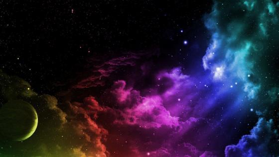 Rainbow Space wallpaper