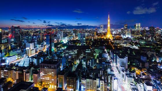 Tokyo night cityscape wallpaper