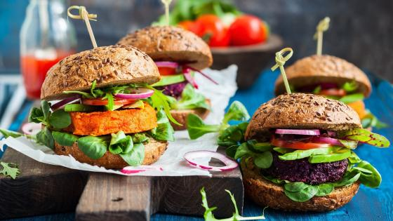 Veggie burger wallpaper