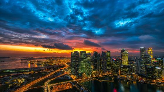 Singapore skyline wallpaper