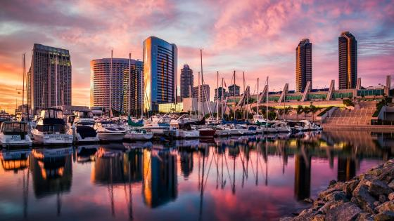San Diego marina wallpaper