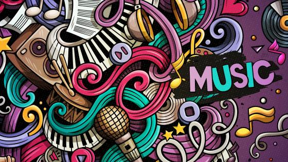 Music doodle wallpaper
