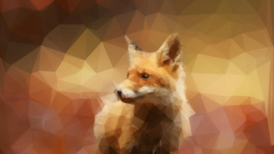 Fox - Low Poly Art wallpaper