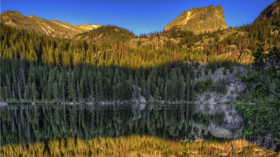 Dream Lake reflection (Rocky Mountain National Park) wallpaper