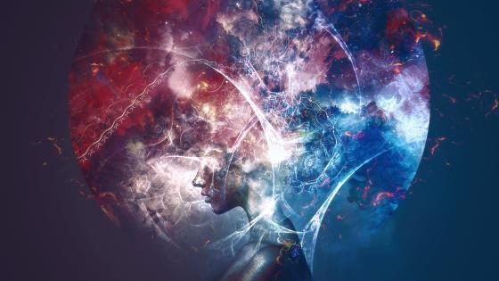 Surrealistic digital art wallpaper