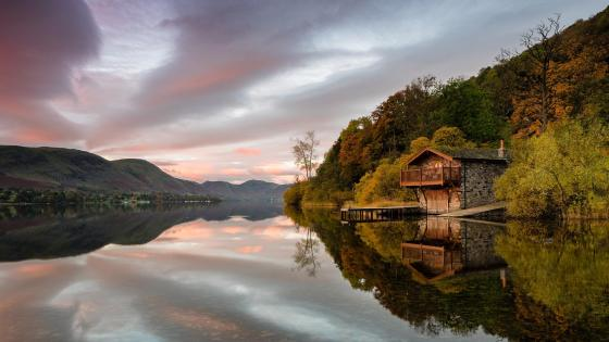 Duke of Portland Boathouse, Ullswater wallpaper