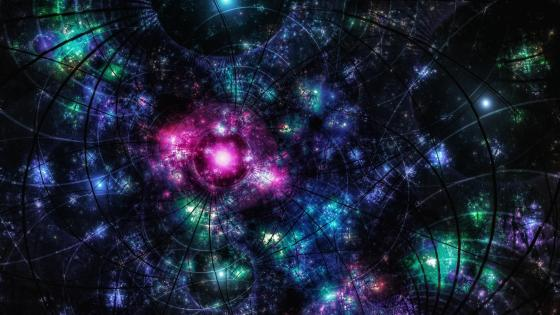 Multicolored universe fractal art wallpaper