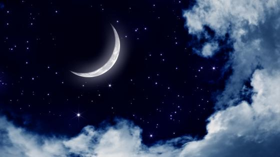 Moonlit sky wallpaper