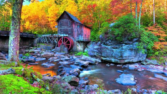 Glade Creek Grist Mill (Babcock State Park) wallpaper