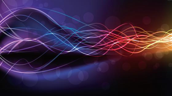 Multicolor waves wallpaper