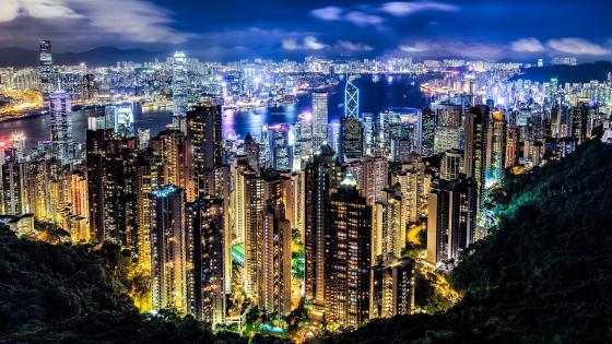 Hong Kong night view from Victoria Peak wallpaper