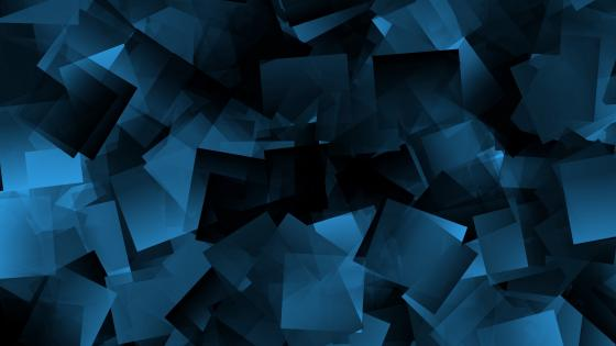 Blue tetragon shapes wallpaper
