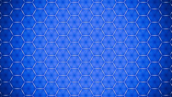 Blue hexagon pattern wallpaper
