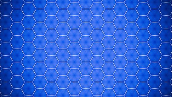 Blue hexagon pattern wallpaper