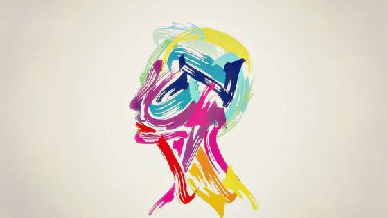 Colorful profile - Abstract art wallpaper