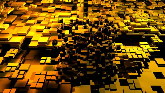 3D Abstract cubes wallpaper