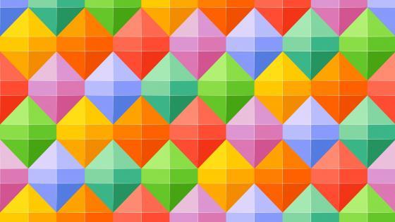 Cheerful colors geometric pattern wallpaper