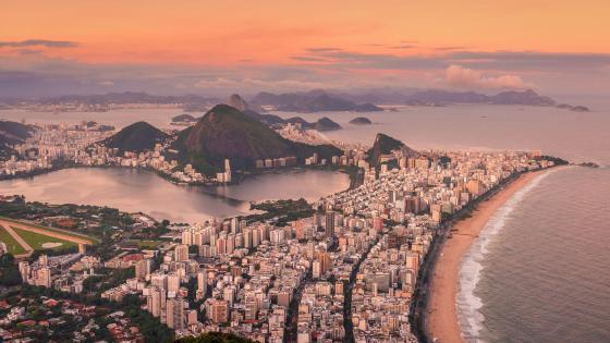 Río de Janeiro aerial view wallpaper