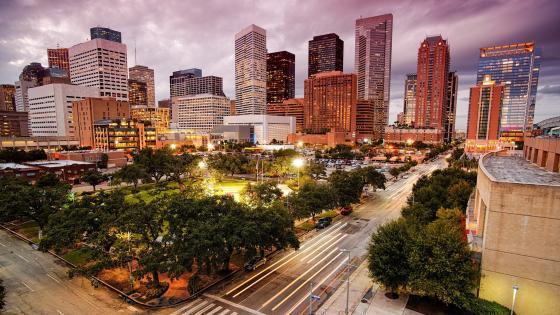 Houston skyline wallpaper