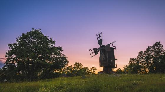 Old windmill wallpaper