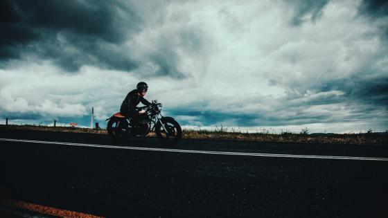 Man on motorbike wallpaper