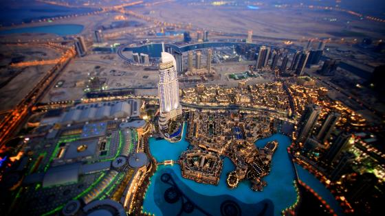Burj Khalifa aerial photography wallpaper