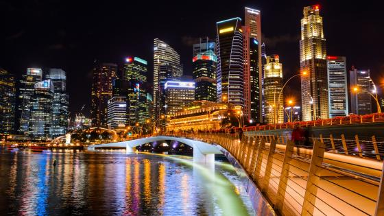 Jubilee Bridge (Marina Bay, Singapore) wallpaper