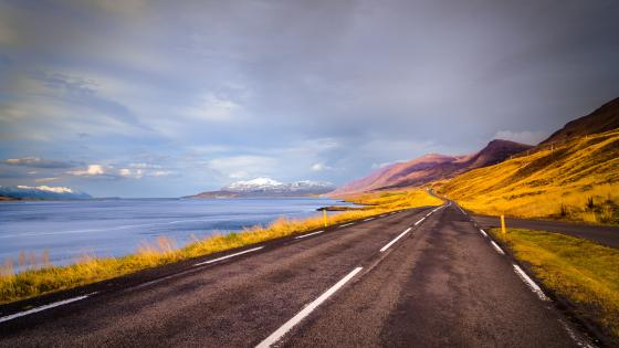 Iceland road wallpaper