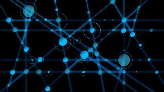 Blue network wallpaper