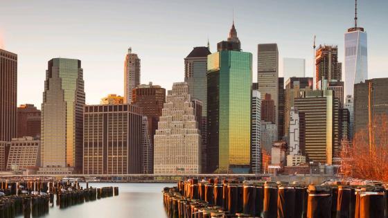New York skyscrapers wallpaper