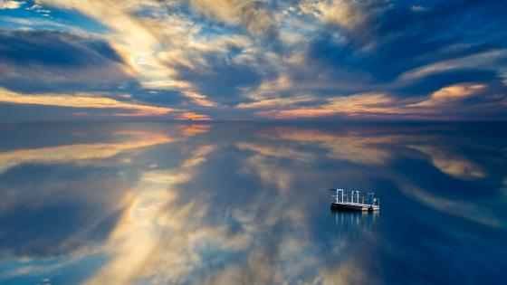 Calm clouds reflection wallpaper