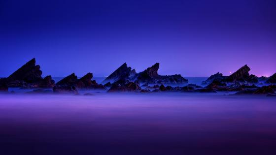 Nightfall landscape wallpaper
