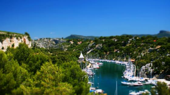 Calanque de Port-Miou Tilt-Shift Photo wallpaper