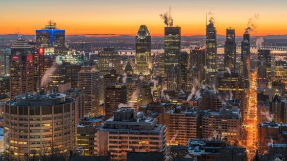 Montréal skyline wallpaper