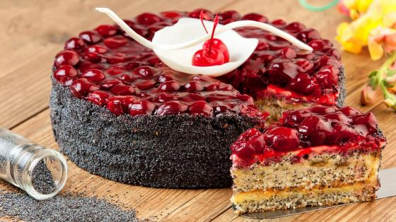 Sour Cherry Poppy Seed Cake wallpaper
