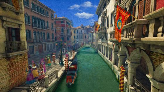 Venice at long time ago - Painting art wallpaper