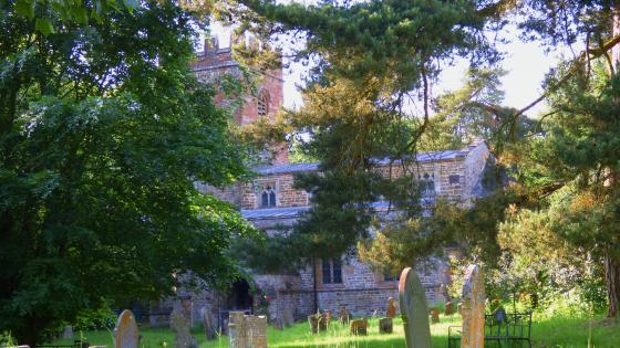 Castle cemetery wallpaper