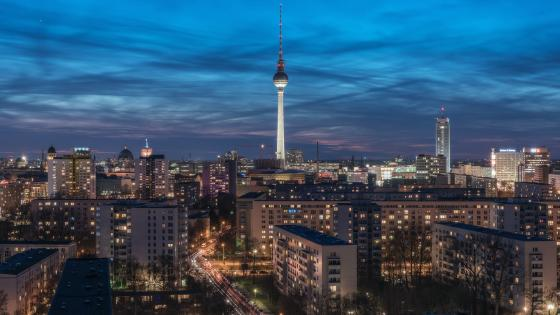 Berlin city skyline wallpaper