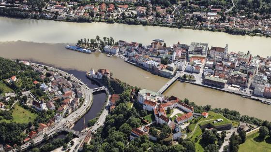 Passau rivers wallpaper
