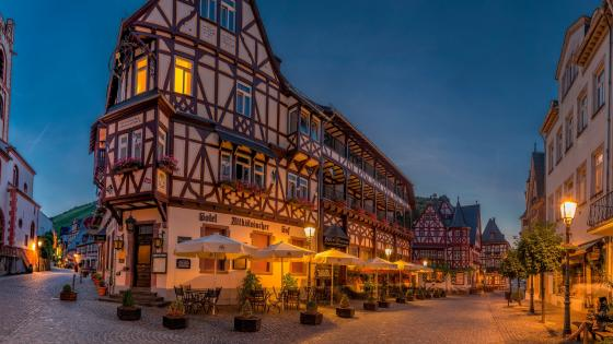 Half-timbered House in Germany wallpaper