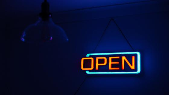 Neon open sign wallpaper