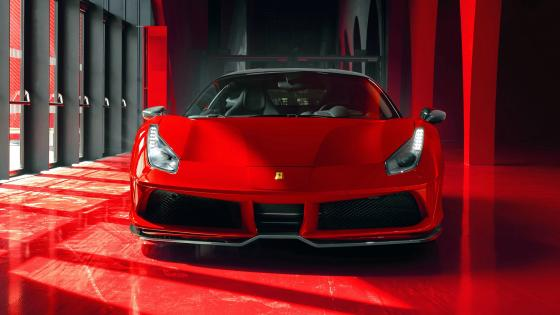 Cool Red Ferrari 488 GTB 2018 wallpaper