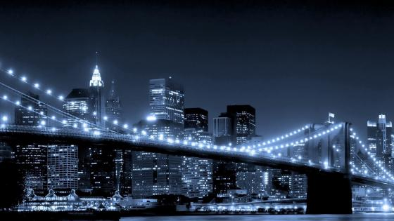 Brooklyn Bridge at night wallpaper