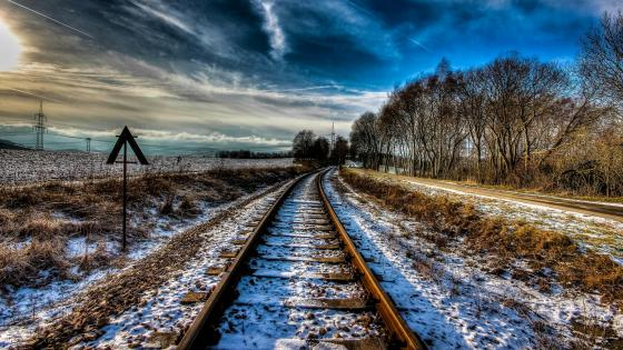 Winter tracks wallpaper