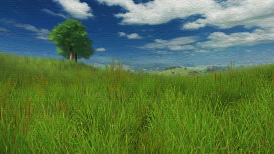 Grassy hills wallpaper
