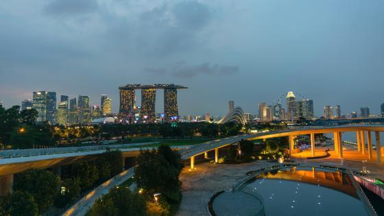 Cloudy Singapore wallpaper