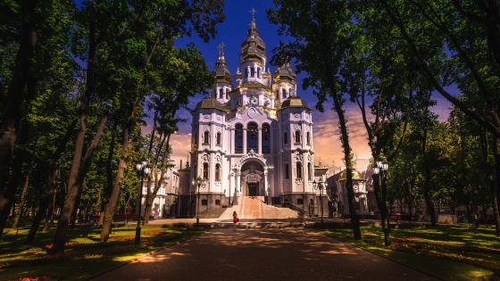 The Temple Of The Holy Myrrh-bearers, Kharkiv, Ukraine wallpaper